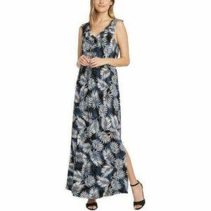 NWT Women's Black Palm MATTY M Maxi Dress
